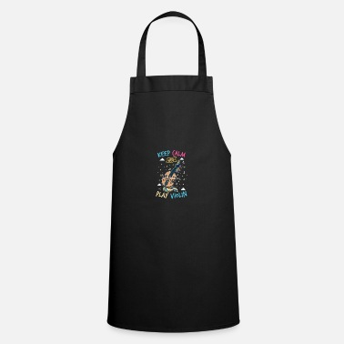 Fiddlestick Unicorn violin: keep calm and play the violin - Apron
