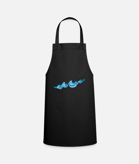Wave Aprons - Waves 2C - Apron black