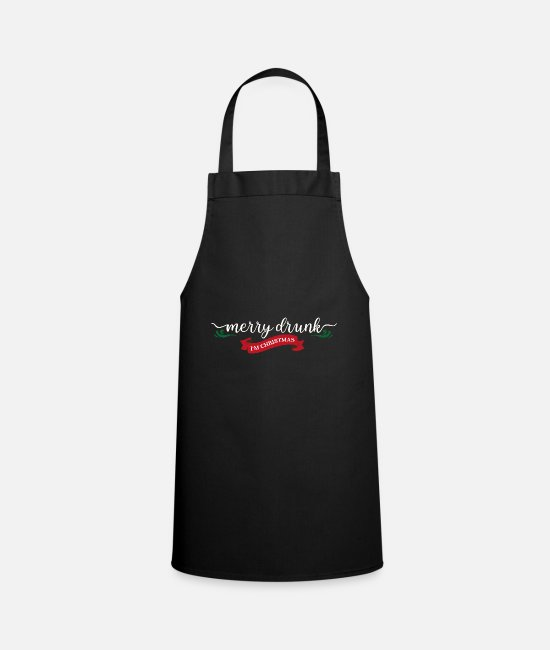 Boss Aprons - Celebrating Christmas gift drunk beer funny - Apron black
