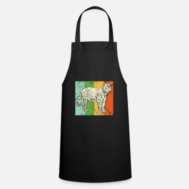 Tanzania Leopard Cougar tooth black jungle - Cooking Apron