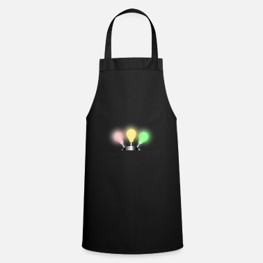 Traffic Light Colorful light bulbs - Cooking Apron