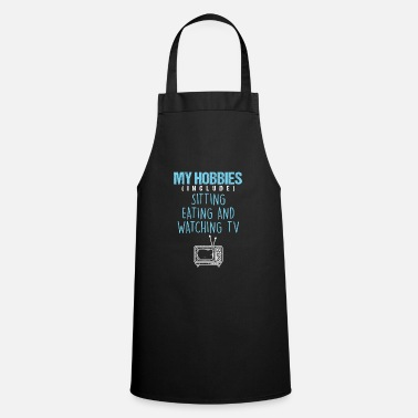 Cinema Hobbies Watching Television TV Movie Show Gift - Apron