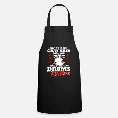 I Love Music. Drums saying gift shirt - Apron