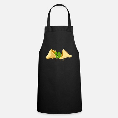 Piece Of Paper Shamrock lucky charm fortune cookie luck - Cooking Apron