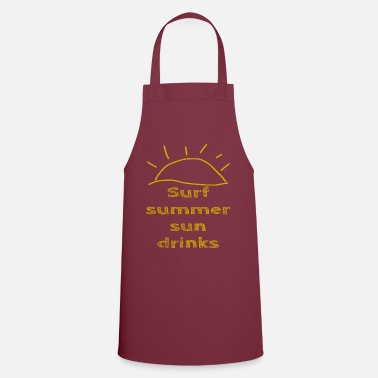 Elegante Surf Summer Sun drinks - summer - Grembiule