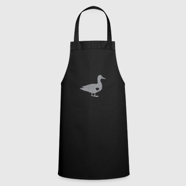 Silver I Love Ducks Silver Fowl Waterfowl Hunter Quack - Cooking Apron