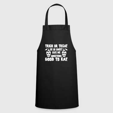 Angry XHalloween Trick or Treat Saying Halloween TShirt Candy Skull - Cooking Apron