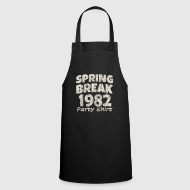 Tape Spring Break Party Shirt 1982 Vintage Disco Funk - Cooking Apron