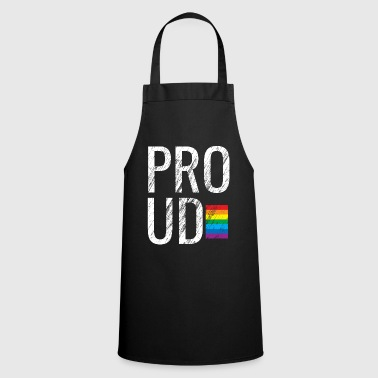 Superstar PROUD Larger Than Life Rainbow Flag Distressed - Cooking Apron