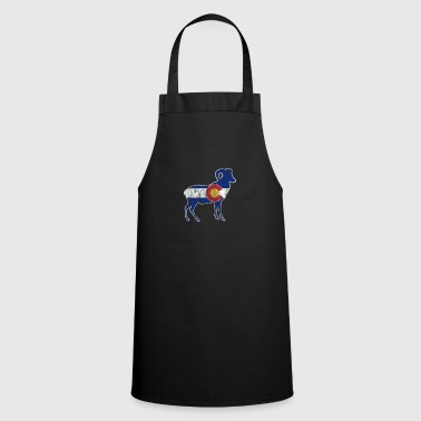Retro Native Colorado Gifts CO State Flag Colorado Pride Ram - Cooking Apron
