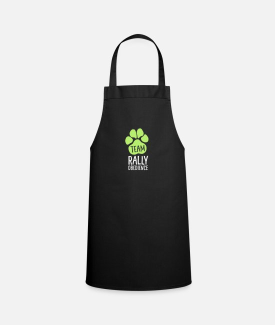 Motion Aprons - Team Rally Obedience - Dog Paws - Dog Sport - Apron black