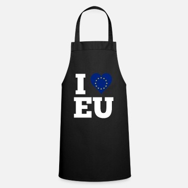 Love I love EU gift Europe flag in the heart - Cooking Apron