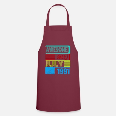 Brilliant 29th birthday Awesome since July 1991 B Day - Apron
