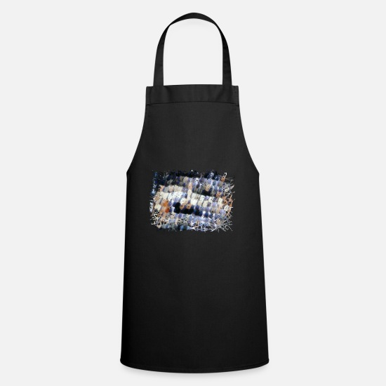 Shack Aprons - Butterfly wing in extreme magnification - Apron black