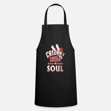 Cricket Apparel Cricket Mends the Soul Cricket Match - Apron