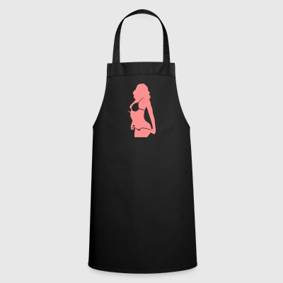 Sexy Woman With Bikini Undresses - Cooking Apron