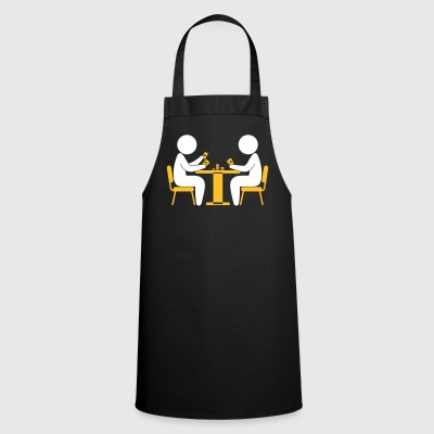 A Poker Player Looks At His Cards - Cooking Apron