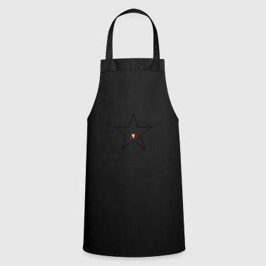 Hollywood Star Black Red Gold - Cooking Apron