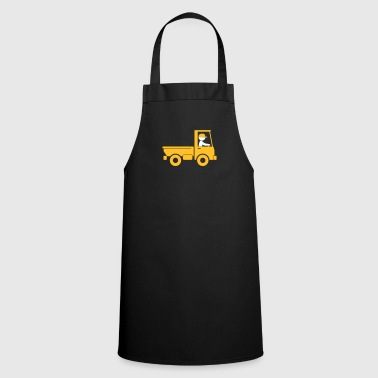 A Pickup Truck Drives To A Warehouse - Cooking Apron