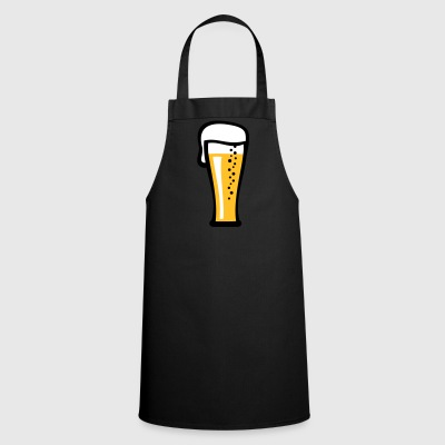 Beer glass with a cool beer gift - Cooking Apron