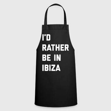Be In Ibiza Music Quote - Keukenschort