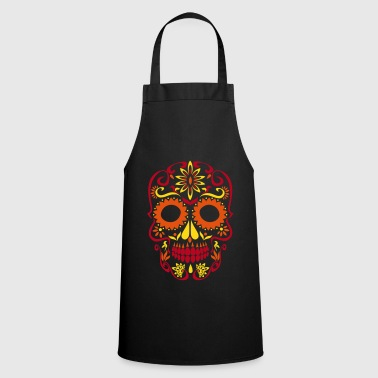 sugar skull day of the dead - Cooking Apron
