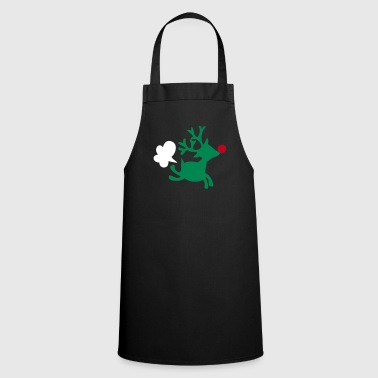 rudolph the red nosed reindeer with a fart - Cooking Apron