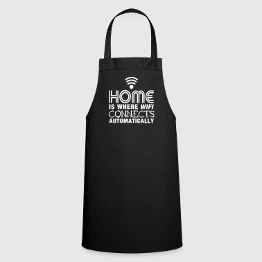 home is where the wifi connects automatically II - Cooking Apron
