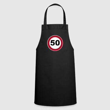 50th birthday sign - Cooking Apron