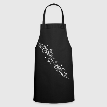 Tribal Tattoo ornament with stars. - Cooking Apron