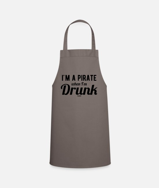 Treasure Hunt Aprons - Pirate Seafarer Adventure Treasure Hunt - Apron grey