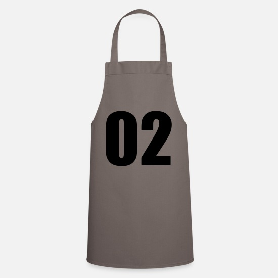 Birthday Aprons - 02 - Apron grey