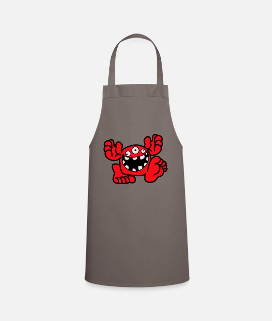 Art Aprons - Proud To Be A Monster Cartoon by Cheerful Madness! - Apron grey