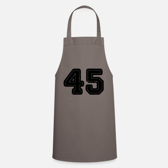 Birthday Aprons - 45 - Apron grey