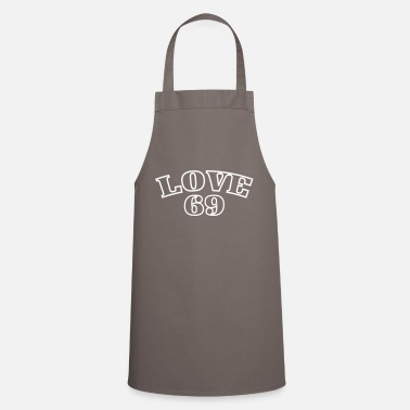 Typo Love 69 Sexy Typo Print Design Statement - Cooking Apron