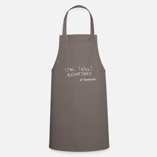 Teamtimmy Aprons - icaniwill - Apron grey