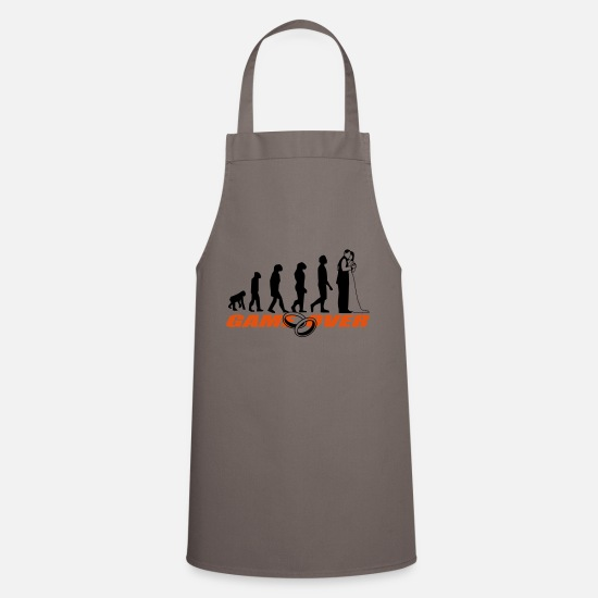 Bride Aprons - Bachelor party Bachelor party - Apron grey