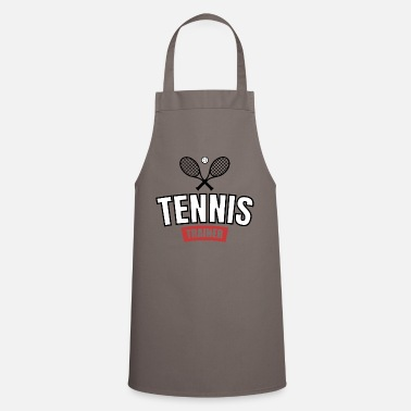 Volley Tennis coach player i love tennis coach apprentice - Cooking Apron
