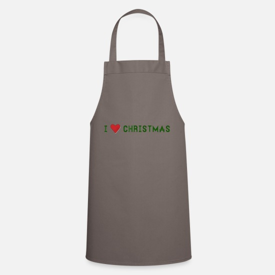 Love Aprons - I love Christmas - Apron grey