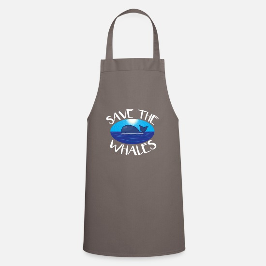 Whale Aprons - Whales - Save the whales - Apron grey