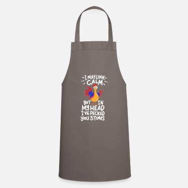 Joke Cool Joke Funny Fun Chicken Naughty Gift - Apron