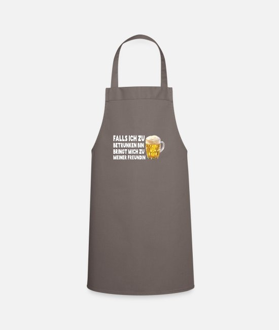 Christmas Aprons - In case I'm too drunk I'm a friend - Apron grey