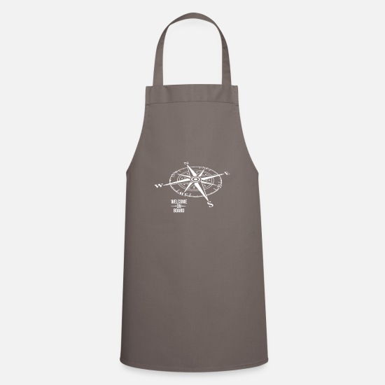 Sailboat Aprons - Welcome on board - Apron grey