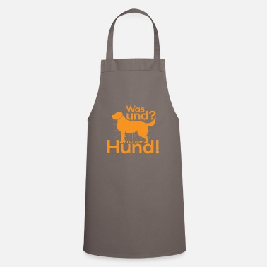 Crook What and crooked dog - Cooking Apron