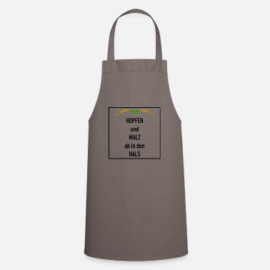 Hops and malt - down the throat beer gift - Apron