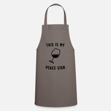 This Is My Peace Sign - Apron