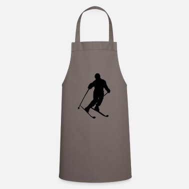Ski Slope skier on the ski slope - Apron