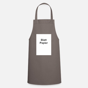Witty Sheet of paper witty funny humor gift - Apron