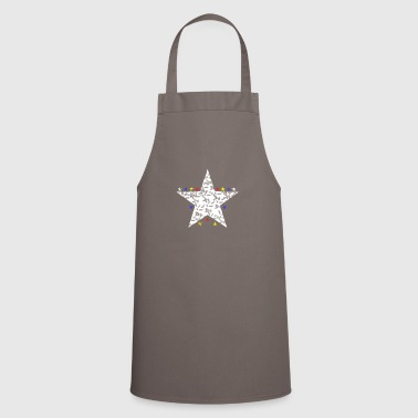 Chic white star and colorful stars chic trendy - Cooking Apron