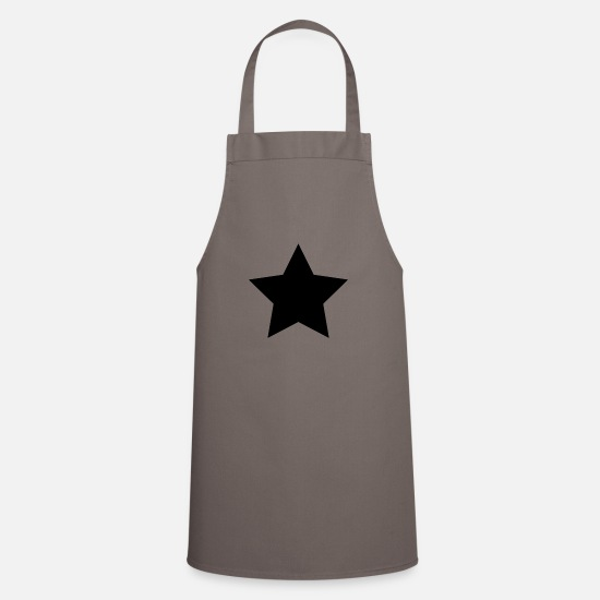 Black Aprons - black star - Apron grey